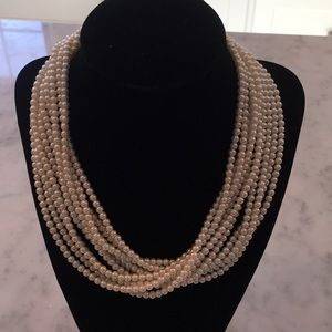 NWOT talbots petite pearl multi strand necklace